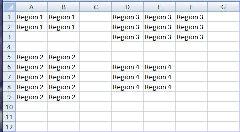 Spreadsheet Regions