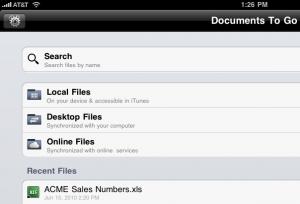 DocsToGo Premium File Locations