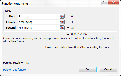 Putting The Time Int And Mod Functions To Work In Excel