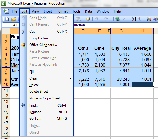 Copy Picture in Excel 2003