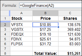 How To: Stock Price Formula in a Spreadsheet Update: August 2019