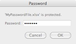 how to open a password protected file in dropbox