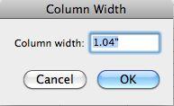 Standard Column Width Excel 2008