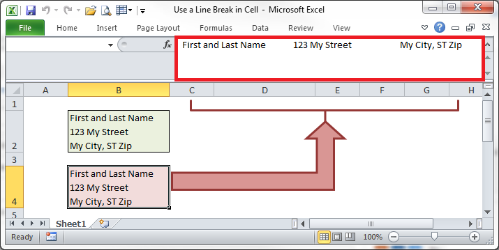 how to start a new line inside a spreadsheet cell with ctrl enter in excel update september. Black Bedroom Furniture Sets. Home Design Ideas
