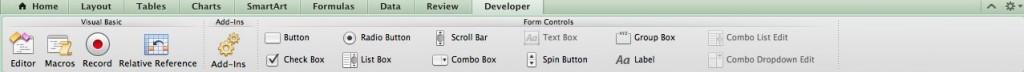 Excel 2011 Ribbon Developer