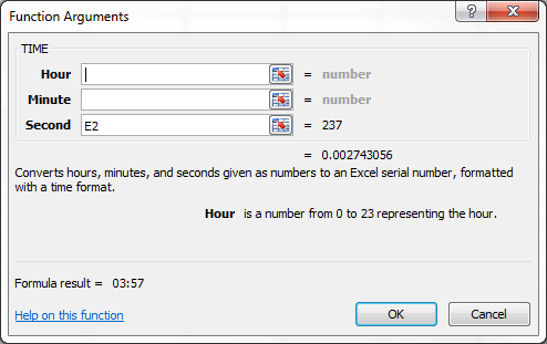 How To: Convert Seconds with the TIME Function in Excel