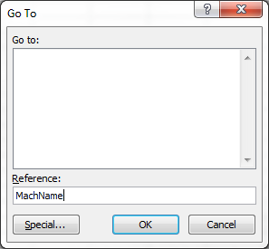 Show Hidden Name with GoTo Dialog Box