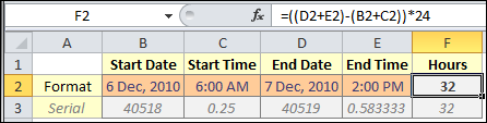 How To: Calculate Hours Between Two Dates and Times in Excel Update