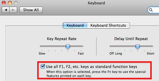 How To: Use Function Keys Normally in Excel 2011 Update