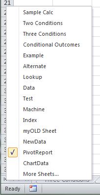 Right-Click Sheet List