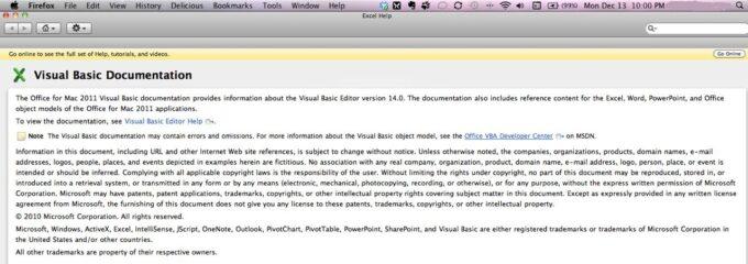 VarType Excel Help 2011