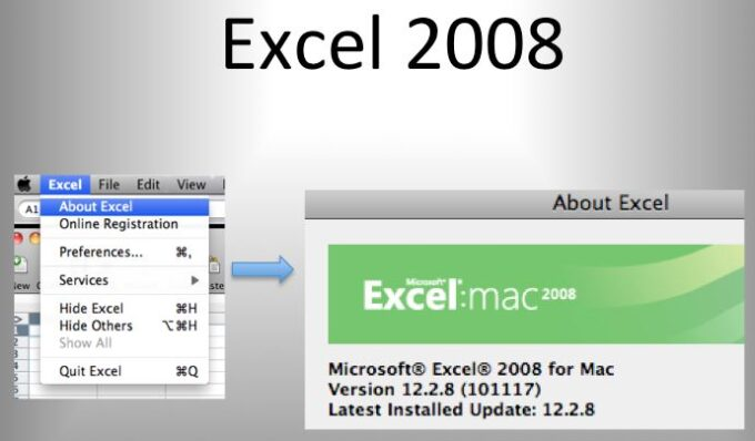 About Excel Versions 2008
