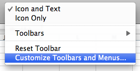 Customize Toolbars and Menus