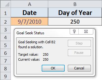Goal Seek After