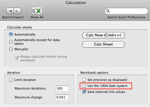 Excel Calculation Preferences