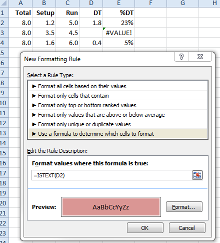 Conditional Formatting for space character