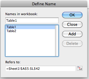 How To: Table Names in Excel Update: September 2019