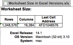 How To: Spreadsheet Size in Excel for Mac Update: September