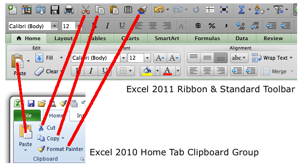 Excel 2010 Clipboard Group