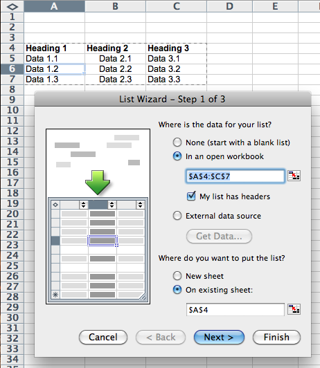 excel 2008 for mac chart wizard