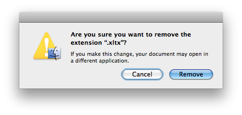 Remove .XLTX Extension