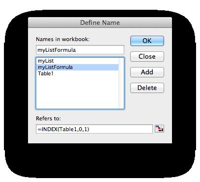 Define Name Dialog Box