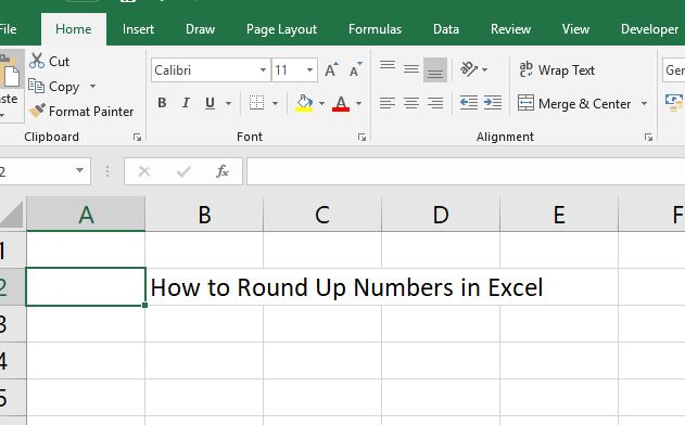 how to round in excel