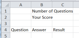 utilizing excel for trivia