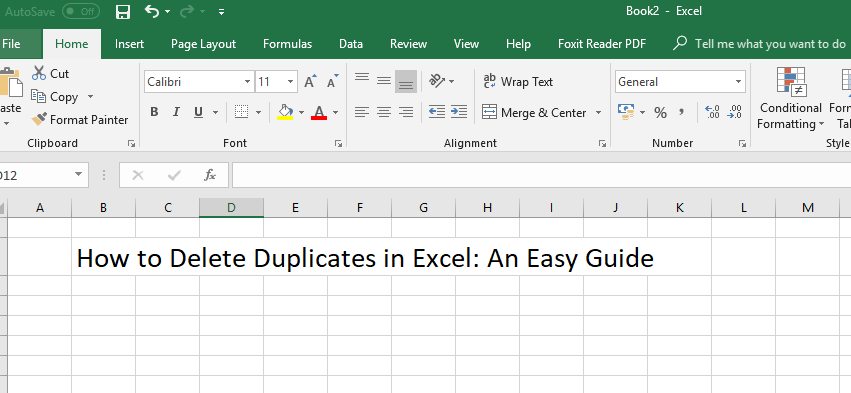 How to Delete Duplicates in Excel