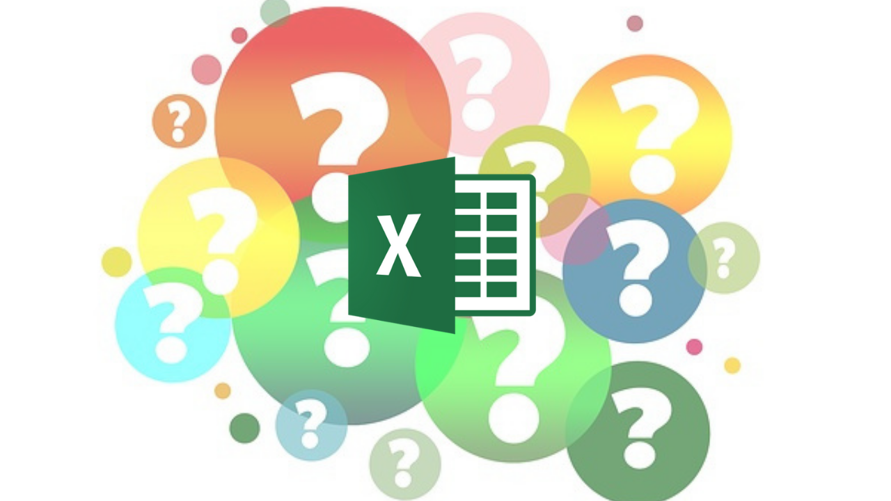 Excel icon with question marks around
